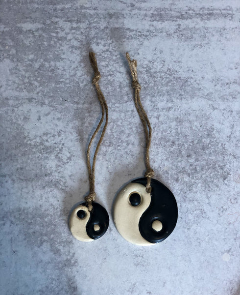 Matte Black Yin Yang Ornament (small)