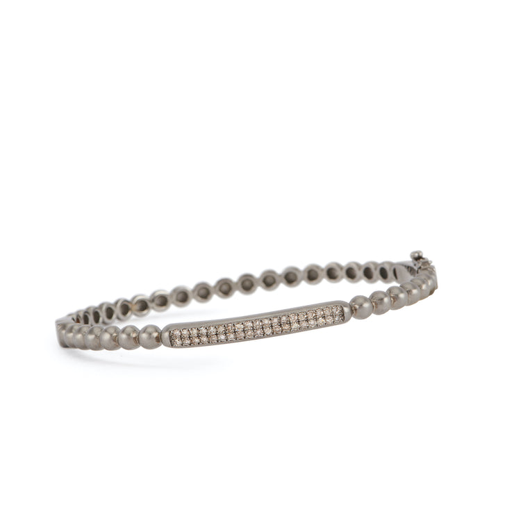 Diamond Bar Matte Ball Bangle