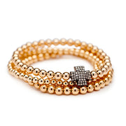 Gold Bead with Diamond Bead