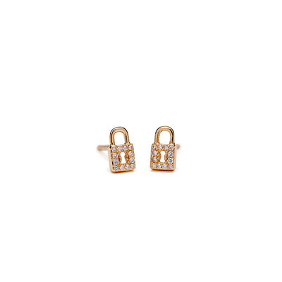 Mini Diamond Lock Studs