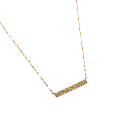 Triple Diamond Bar Necklace