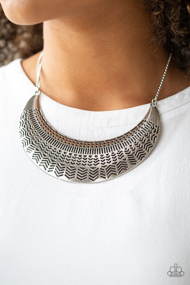 Large As Life Silver Necklace
