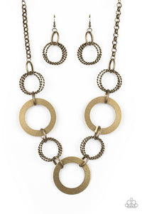 Ringed In Radiance Brass Necklace