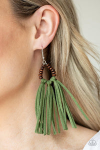 Easy To PerSUEDE - Green earrings