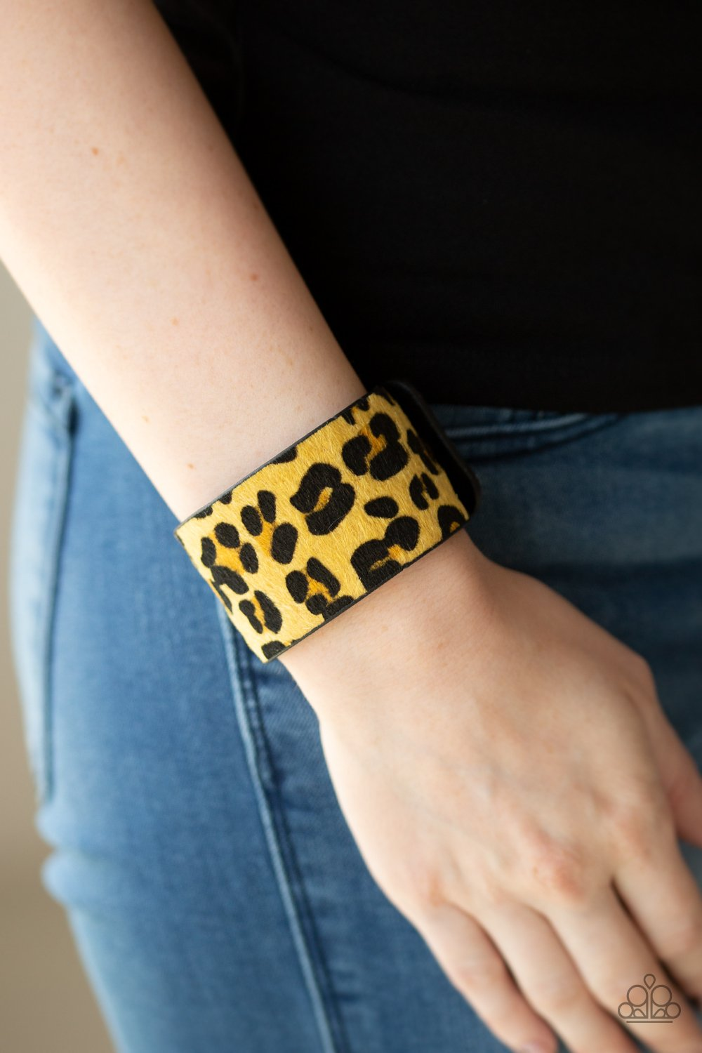Cheetah Cabana Yellow Urban Bracelet Wrap