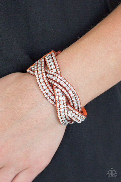 Bring On The Bling - Orange Urban Bracelet