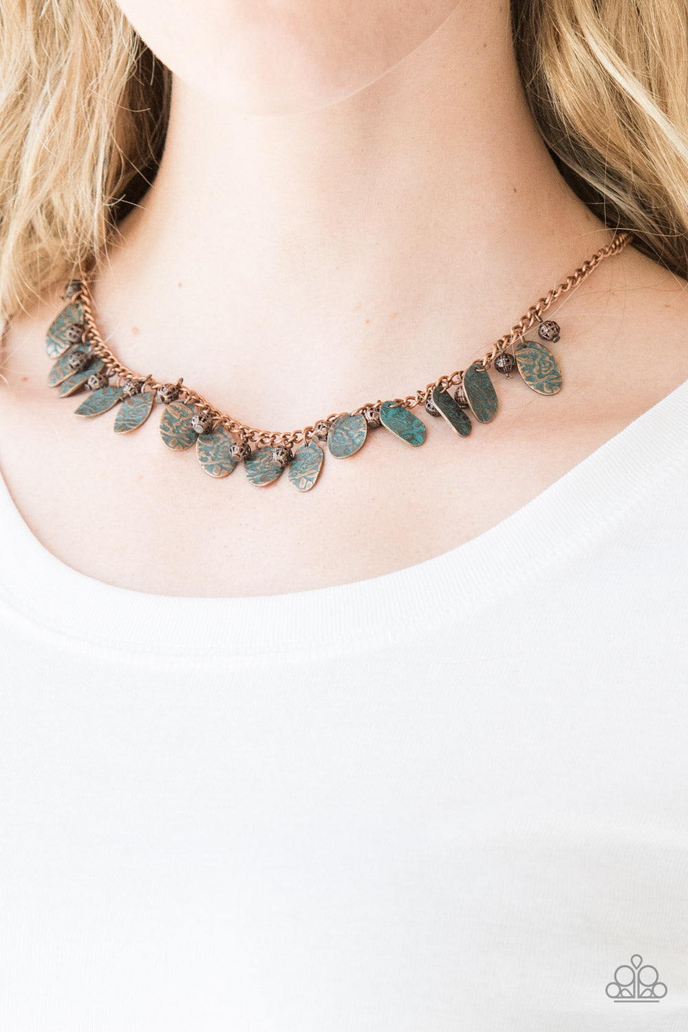 Vintage Gardens - Copper Necklace