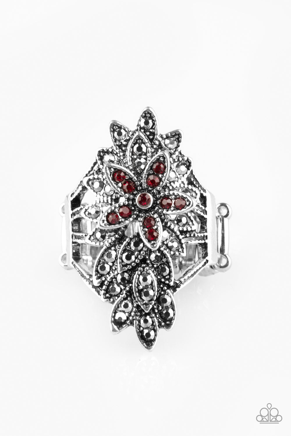 Formal Floral Red Ring