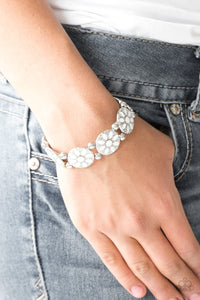 Dancing Dahlias - White Bracelet