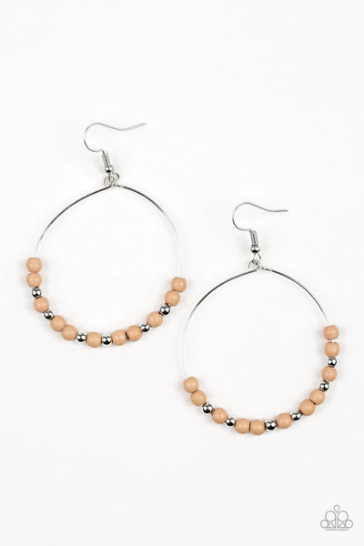 Stone Spa - Brown Wire Earrings