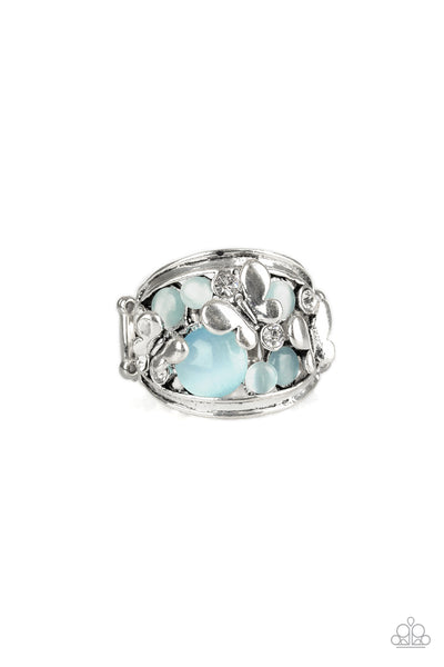 Flutter Me Up Blue Moonstone Ring