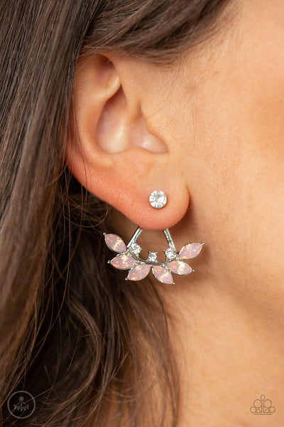 Forest Formal Pink Jacket Earring