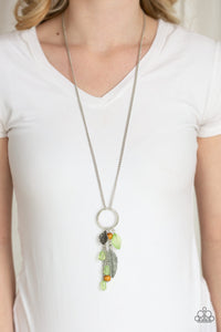 Sky High Style - Green Necklace