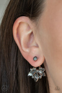 Crystal Constellations Silver Post Jacket Earring