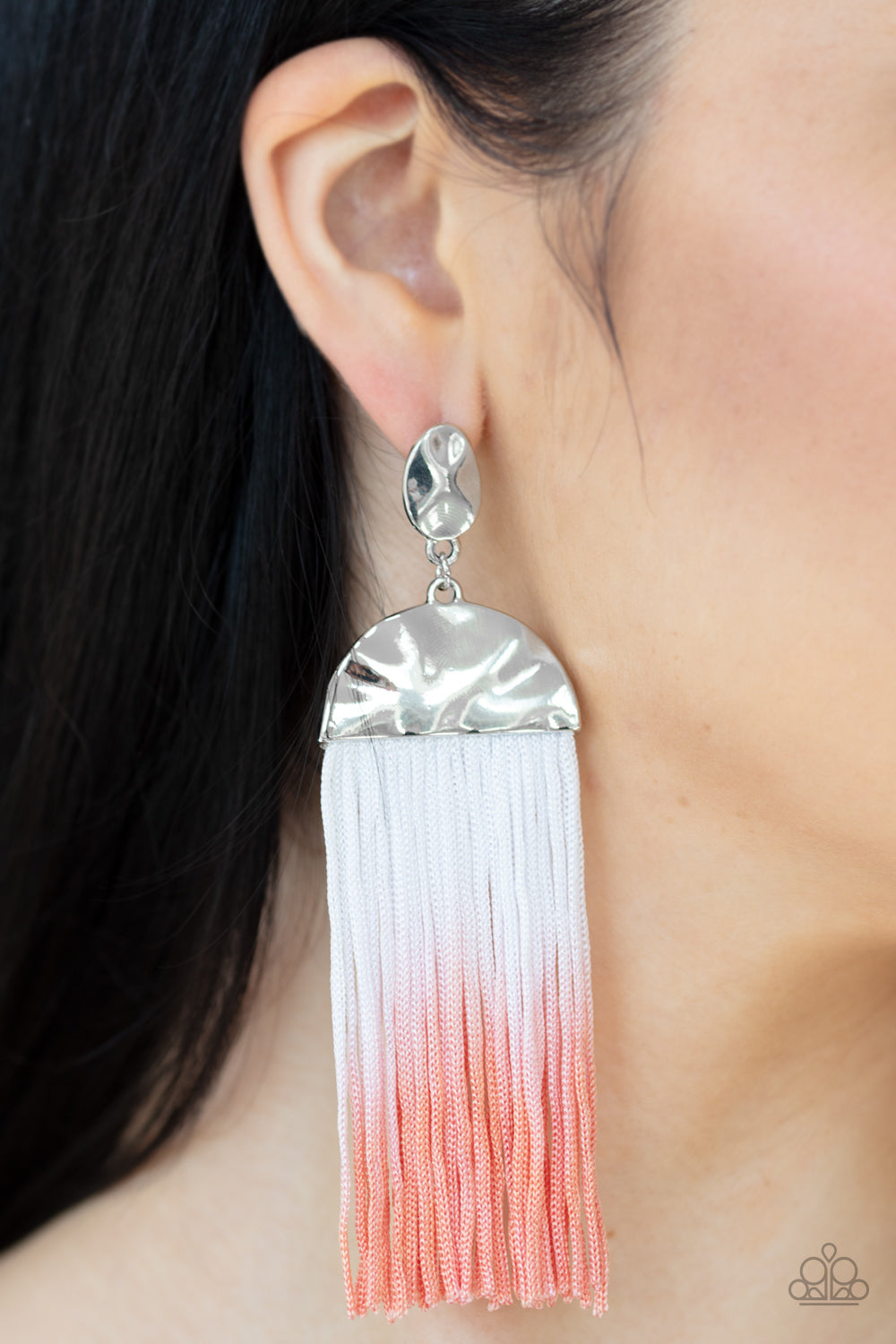 Rope Them In - Orange Earring