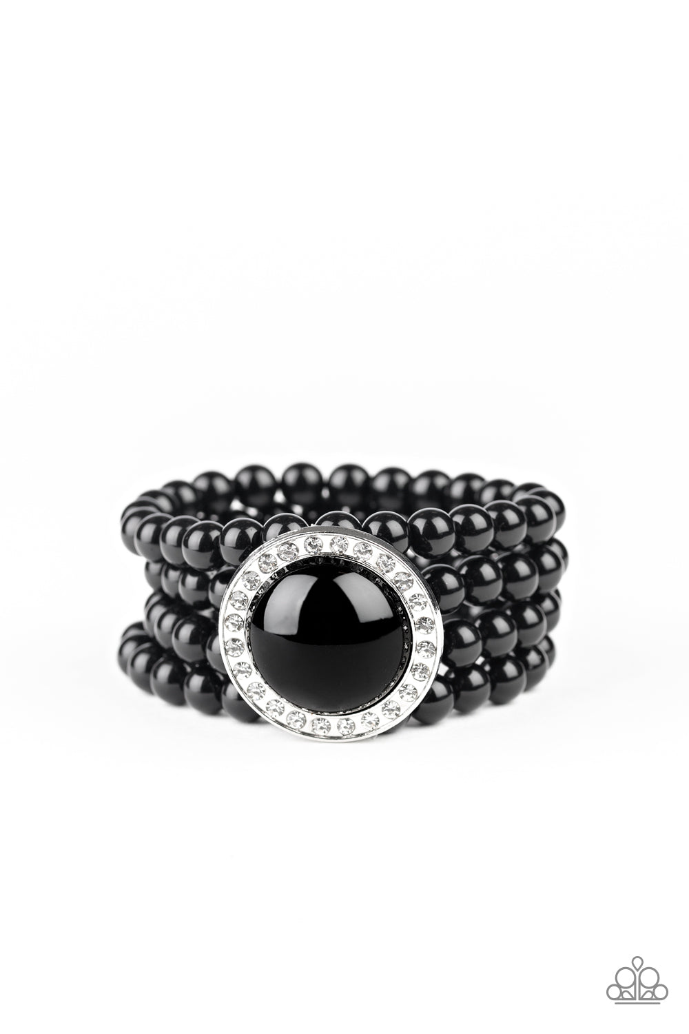 Top Tier Twinkle - Black Bracelet