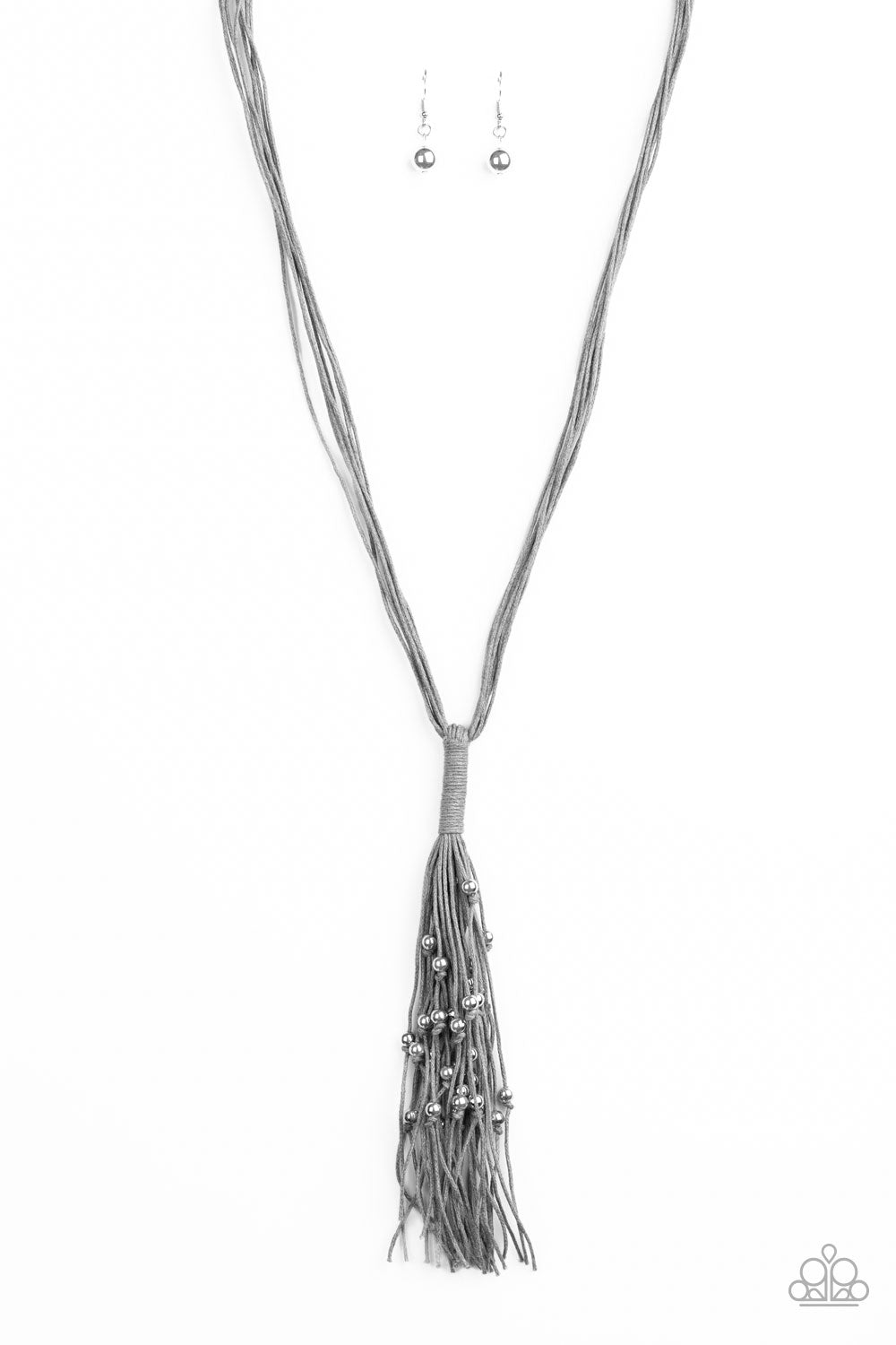 Hand-Knotted Knockout - Silver Necklace