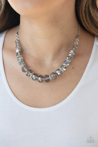 Distracted by Dazzle - Silver Necklace