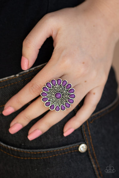 Posy Paradise - Purple Ring