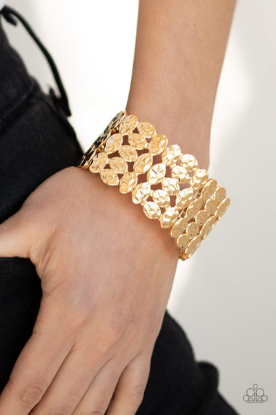 Tectonic Texture - Gold Bracelet