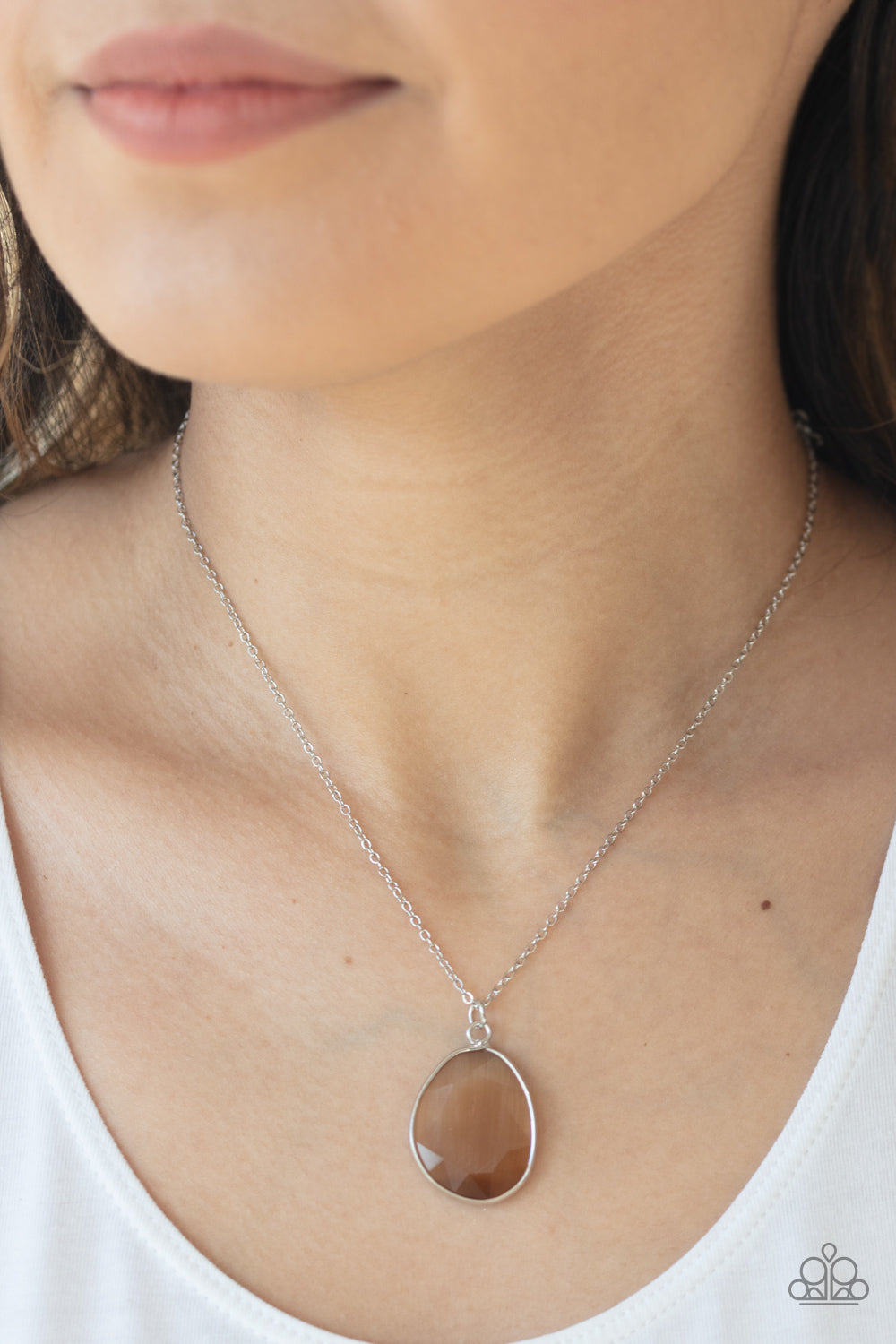 Icy Opalescence - Brown Necklace