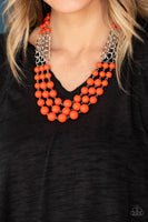 A La Vogue Orange Necklace