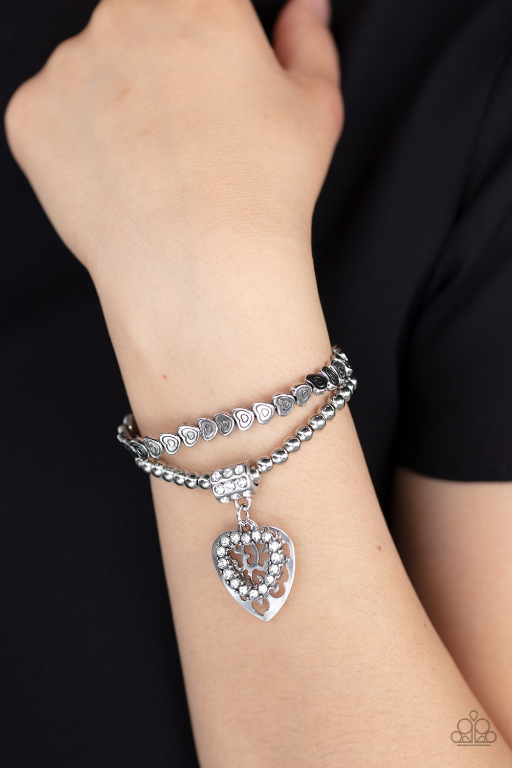 Think With Your Heart - White Bracelet