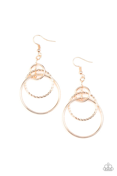 Three Ring Couture - Rose Gold Earring