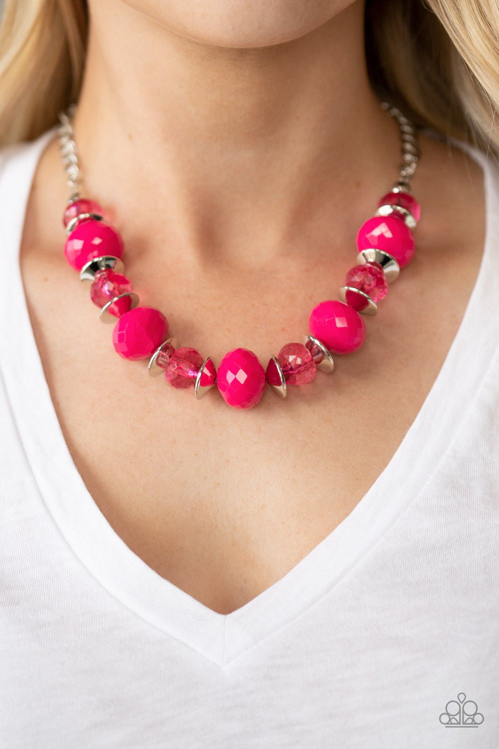 Hollywood Gossip - Pink Necklace