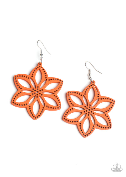 Bahama Blossoms - Orange Earring