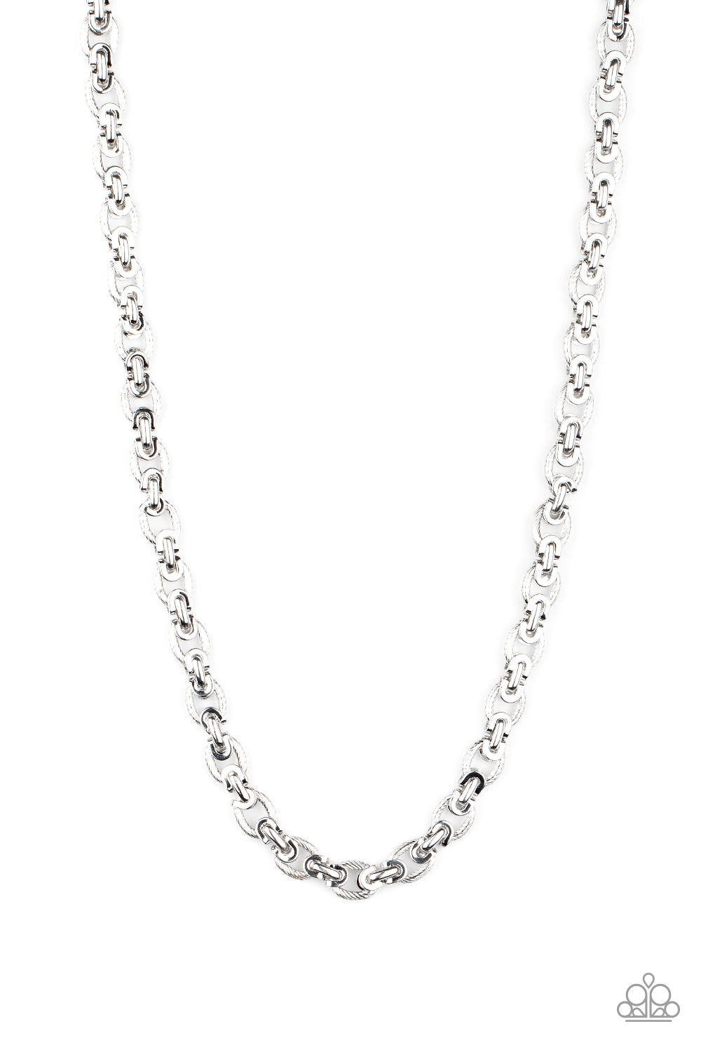 Grit and Gridiron - Silver Necklace