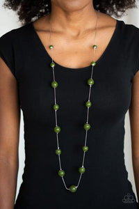 5th Avenue Frenzy Green Necklace