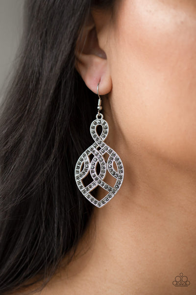 A Grand Statement - Silver Earrings