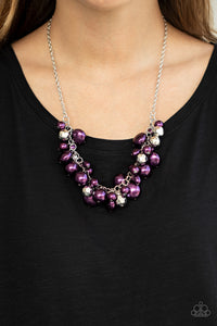 Battle of the Bombshells - Purple Necklace