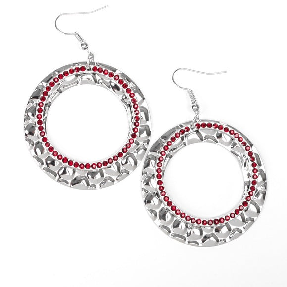 Cinematic Shimmer Red Earring