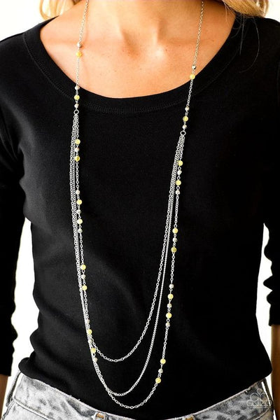 Colorful Cadence Yellow  Necklace