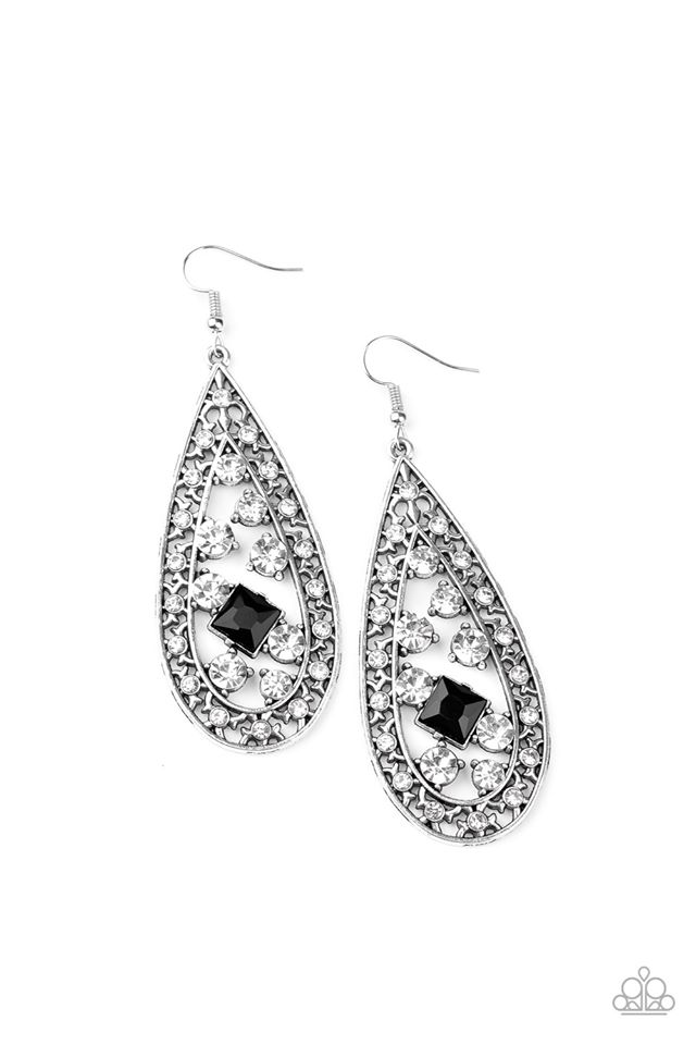 Drop Dead Dazzle Black Earring