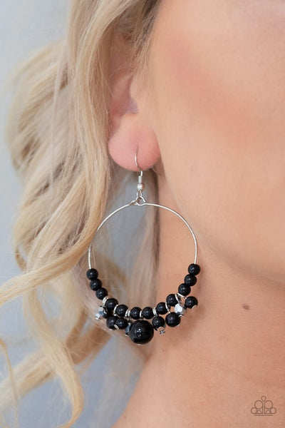Effortless Effervescence Black Earring