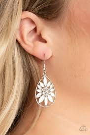 Floral Morals White Earring