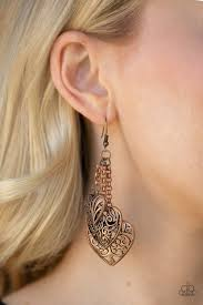 Once Upon A Heart Copper Earring