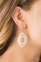Mantras and Mandalas Gold Earring