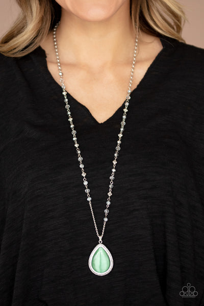 Fashion Flaunt Green Necklace