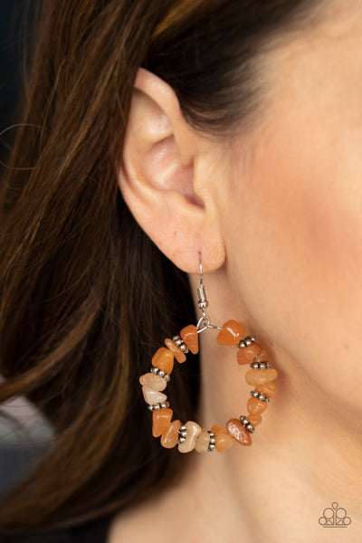 Going for Grounded - Orange Earring