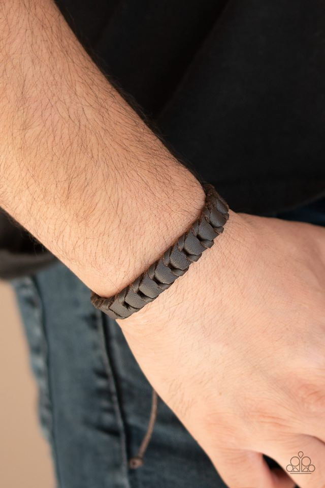 Grit and Grease Brown Urban Bracelet