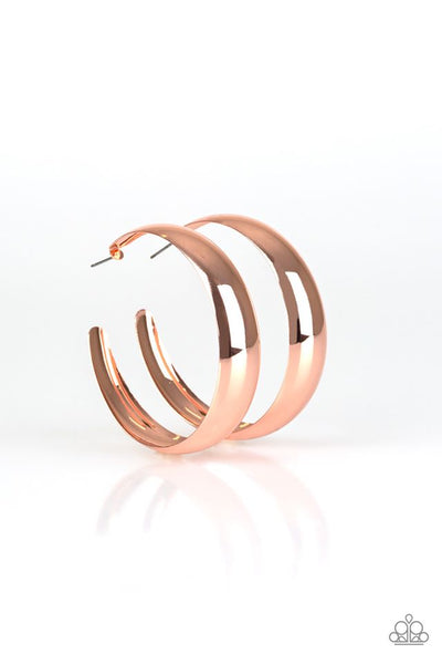 Gypsy Goals Copper Hoop Earring