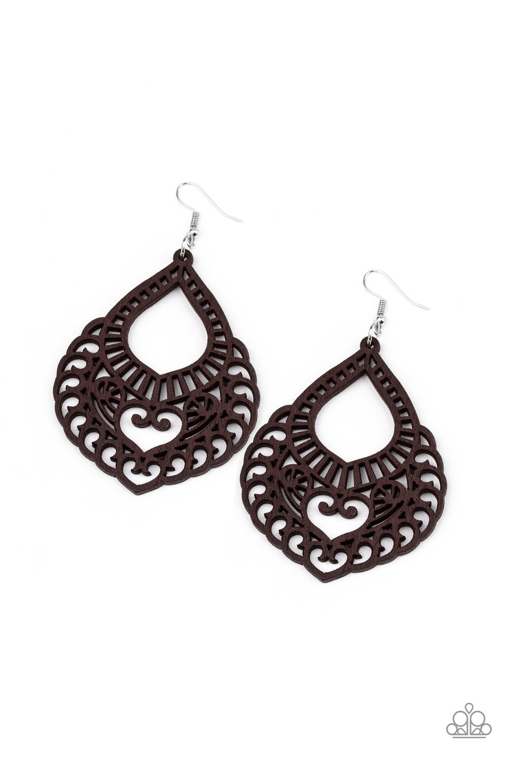 If You WOOD Be So Kind - Brown Earrings