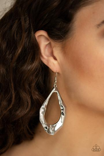 Industrial Imperfection Silver Earring