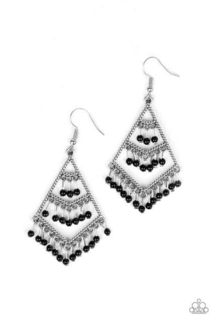 Kite Race Black Earring
