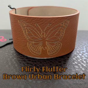 Flirty Flutter Brown Bracelet