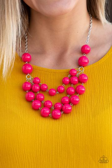 Miss Pop-YOU-larity Pink Necklace